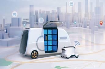 无人配送CAN-bus总线解决方案可实现无接触快递物流