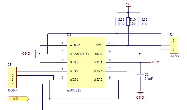 基于stm32f10 ADS1115芯片模转换器 数据采集系统