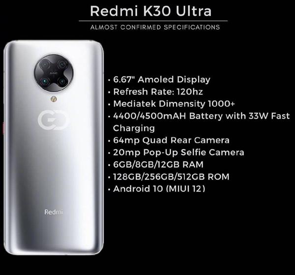 Redmi K30 Ultra关键信息解密