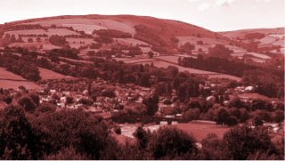 The Powys town of Builth Wells, the location of Vodafone UK's first OpenRAN mast.