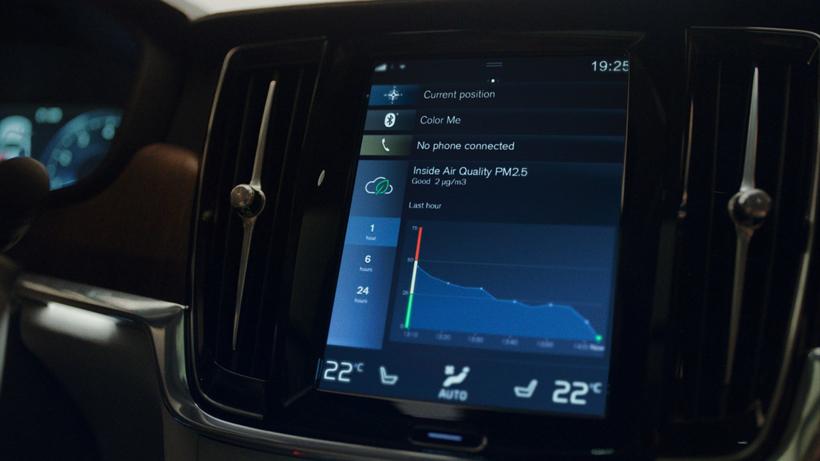 沃尔沃汽车推全球首创的空气净化技术 可测量车内PM 2.5水平