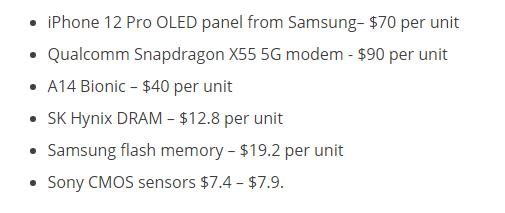 iPhone 12 Pro最贵元件是高通X55基带:两颗A14处理器比不上