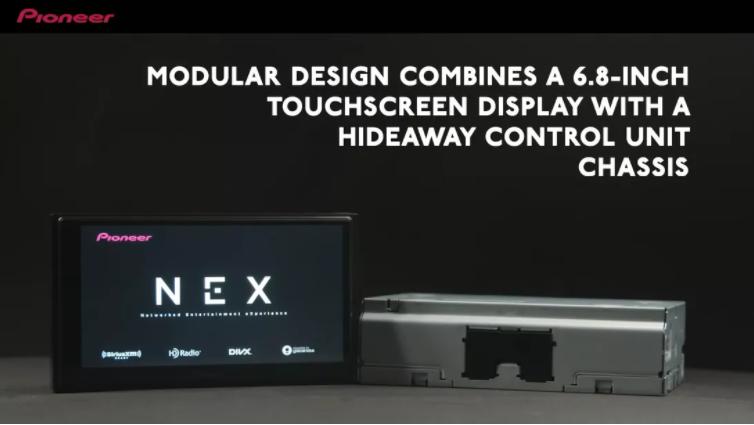 前瞻技术,NEX接收器,灵活安装,触摸屏