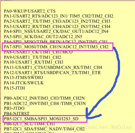 STM32的重映射功能,以ZET6的TIM3_CH2通道从PA7->PB5为例