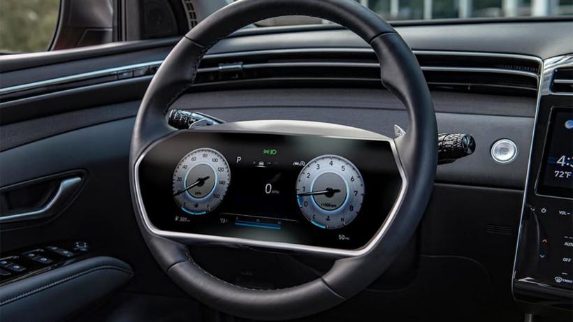 黑科技,现代汽车专利,方向盘显示屏